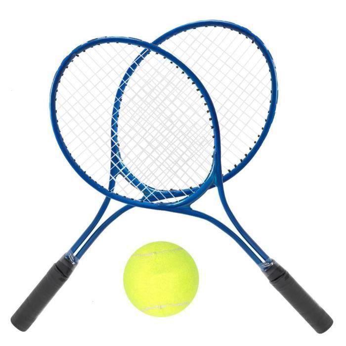 Balle de tennis Accessoire de raquette d'entraînement de raquette de tennis pour enfants avec balle et sac de transport (bleu) LBQ88
