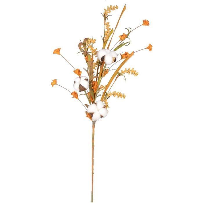 Fleurs artificielles Fleurs de coton blanc naturellement s&eacutech&eacutees Plantes artificielles Branche florale F&ecircte d411