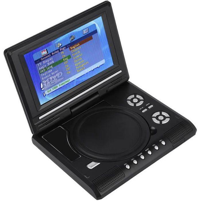 Portable HD 7.8 ' LCD lecteur DVD de voiture mini TV Radio Adaptateur 100-240V