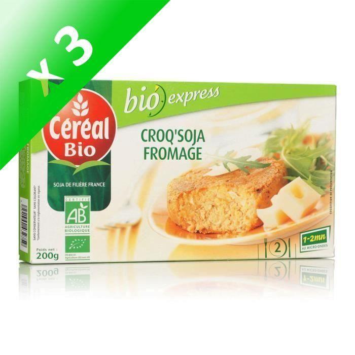 [LOT DE 3] CEREAL BIO Croq'Soja à base de tofu et de fromage Bio - 200 g