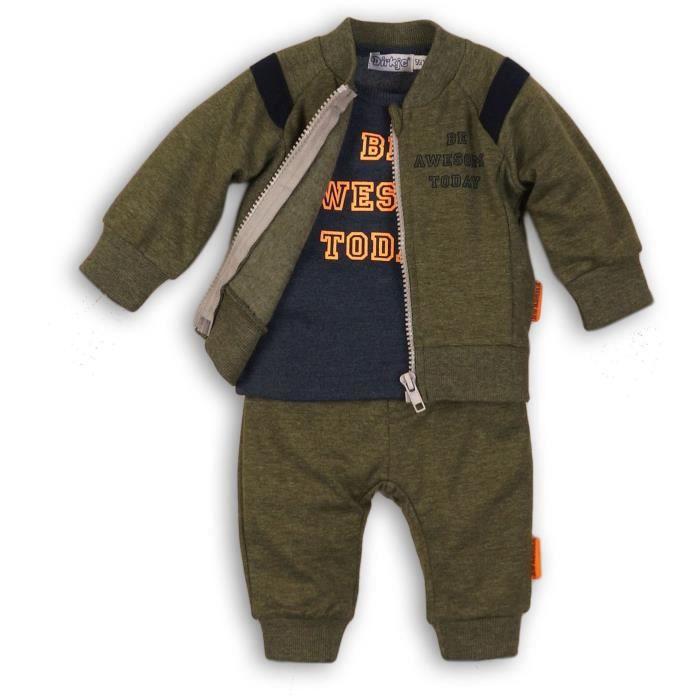DIRKJE Pyjama Cardigan/Pantalon Vert/Marine Bébé