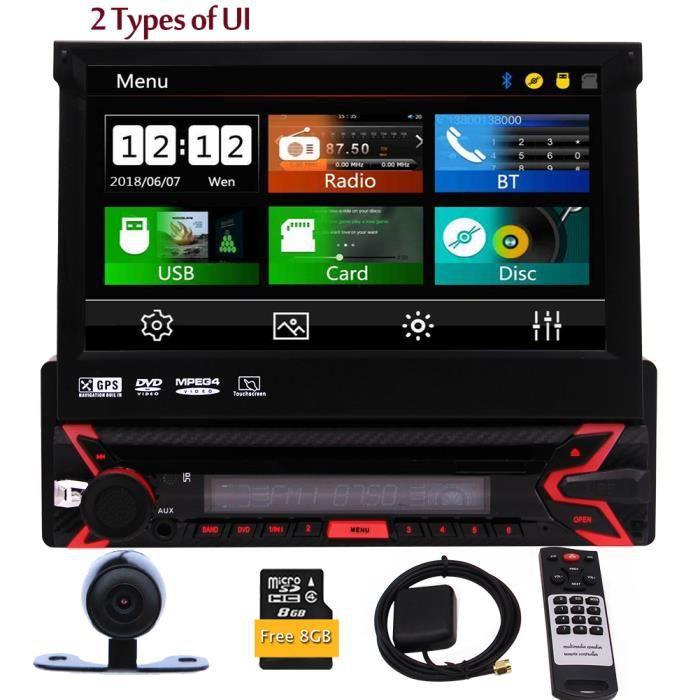 EinCar simple Din voiture Bluetooth stéréo avec 7- écran tactile Sat Nav support radio, audio, USB, GPS, FM - AM RDS vidéo, CD de