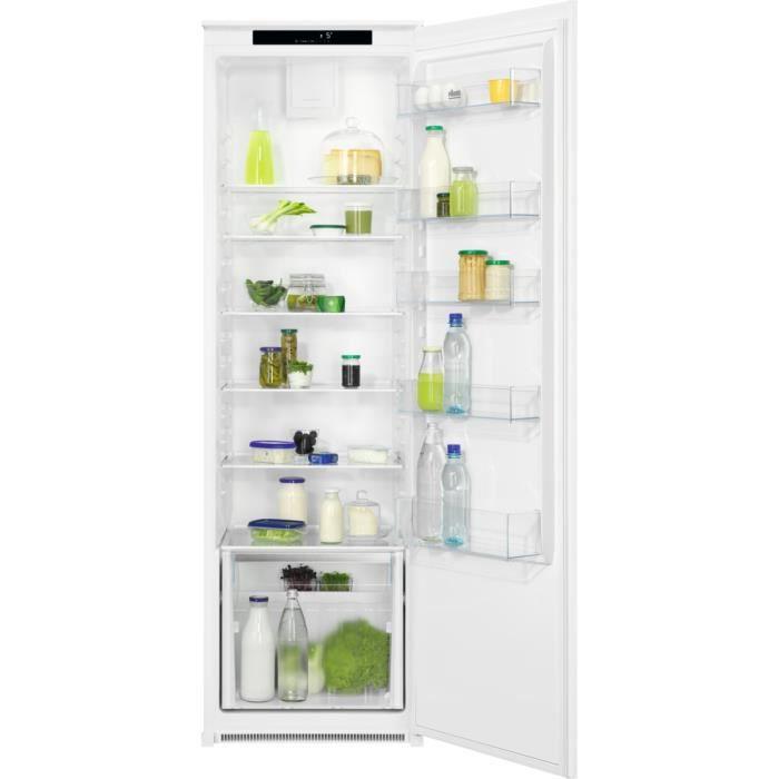 Faure FRDN18FS2 - Réfrigérateur 1 Porte Encastrable - 310L - Froid Brassé - L 56 x H 178 cm - Fixation Glissière
