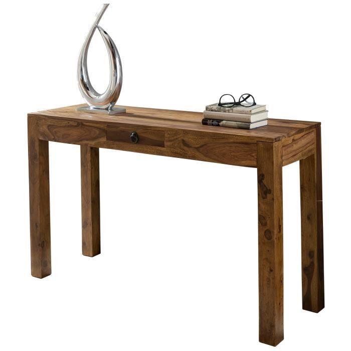 FineBuy Table console Bois Massif 120x70x40cm Table de couloir Table de bureau [Sheesham]