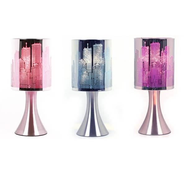 Lampe Touch New-York City a variateur Modele Rose