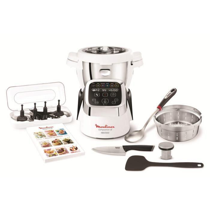Moulinex cuisine Companion XL - Robot de cuisine, 6 programmes