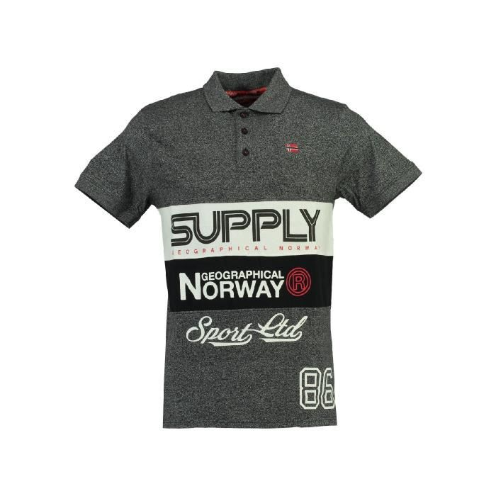 Polo Homme Geographical Norway Karchie Noir