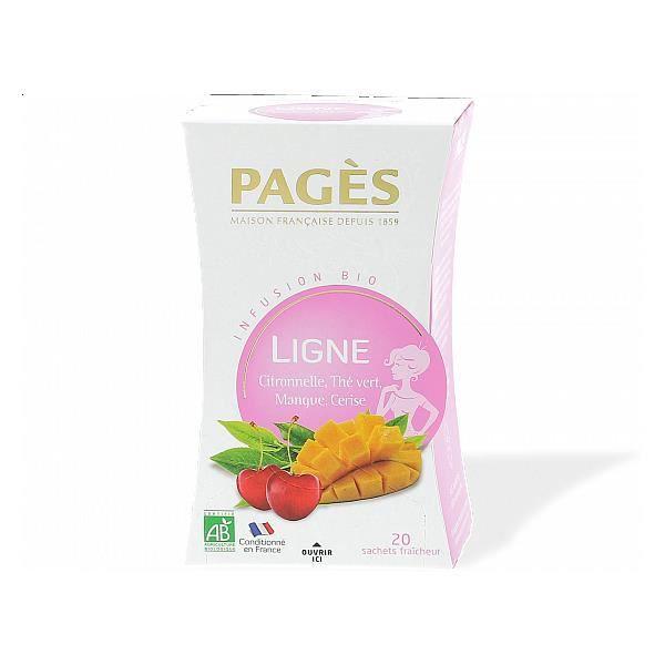 Infusion Ligne - Mangue Cerise - Infusion BIO Pagès (x20) TU