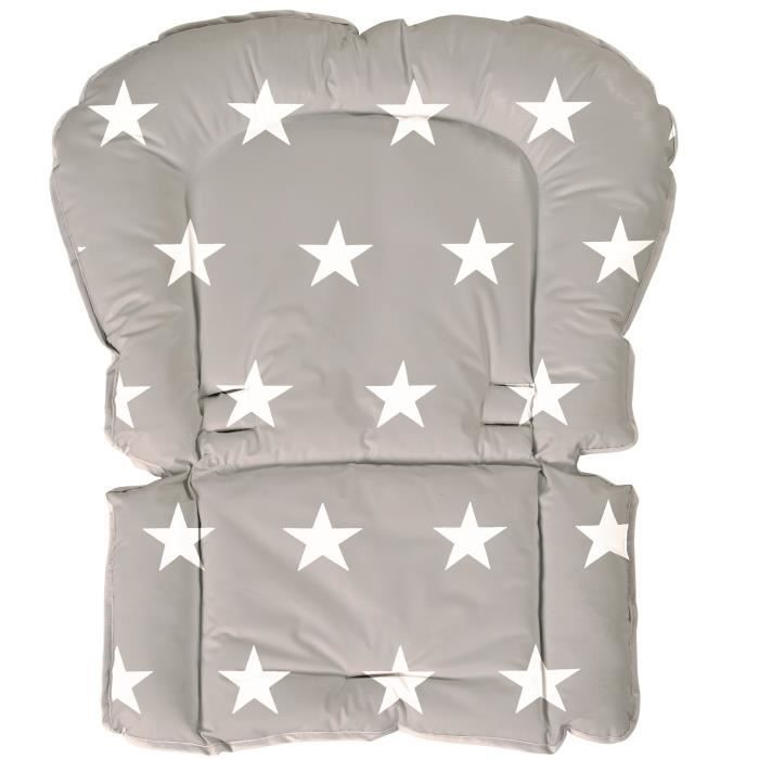 Coussin universel chaise haute collection 'Little stars' Roba - Blanc