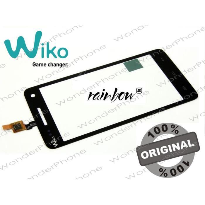 Vitre Tactile Wiko Rainbow 4G Noir GARANTIE 100% Original WIKO France
