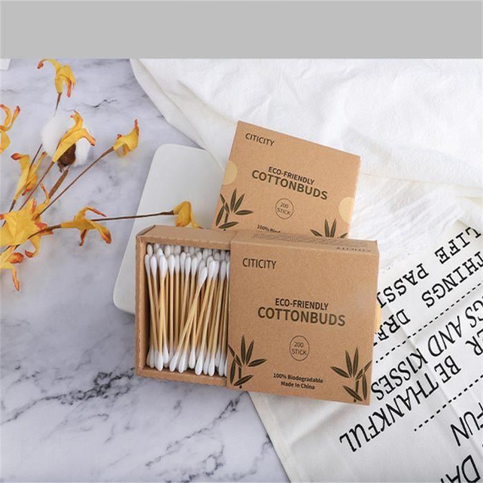 Humble Coton-tige en bambou naturel 5 paquets de 100 pi/èces bleu