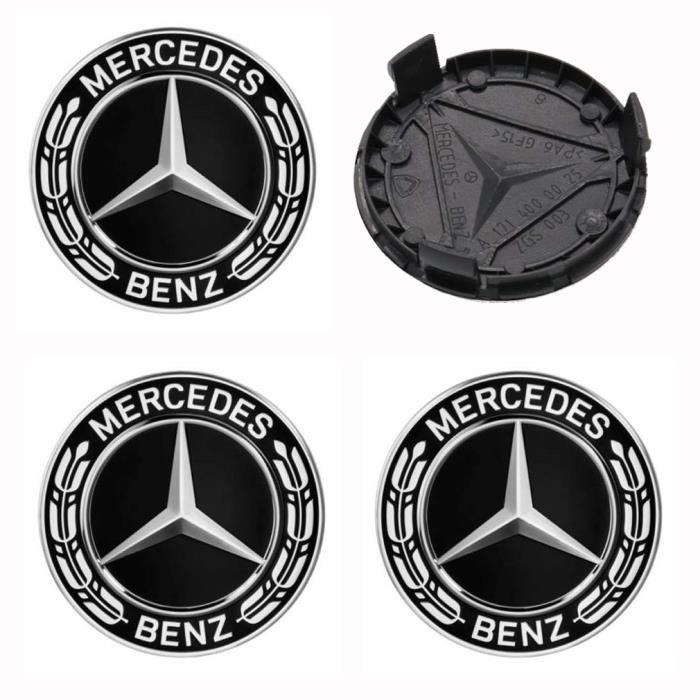 x1 centres de roue Gris 75mm emblème Mercedes cache moyeu NEUF