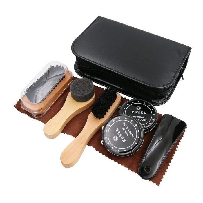 Pour Cuir La Étui Cirage Kit De Chaussures Avec Élégant D'entretien PuVoyage En Chaussure f76ybg