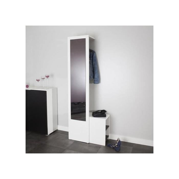 vestiaire blanc achat vente meuble d 39 entr e vestiaire blanc cdiscount. Black Bedroom Furniture Sets. Home Design Ideas
