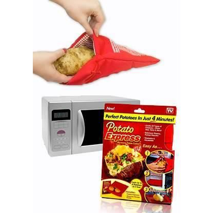 Patato express sac cuisson patates au micro onde achat for Cuisson betterave micro onde