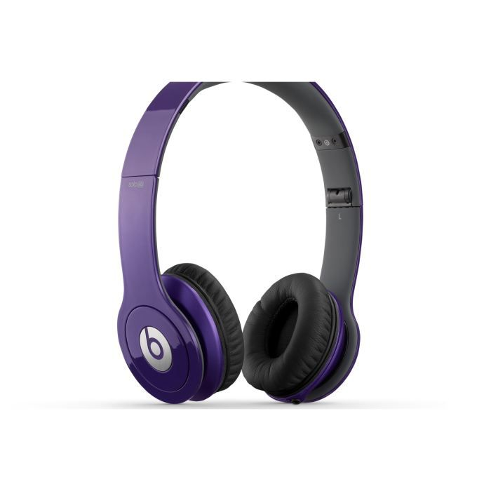 casque beats by dr dre solo hd violet casque couteur. Black Bedroom Furniture Sets. Home Design Ideas