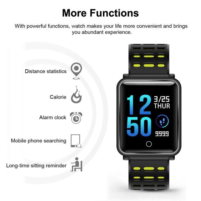 MONTRE CONNECTÉE Diggro N88 montre connectée podomètre fréquence ca