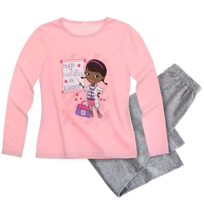pyjama docteur la peluche 2 ans rose achat vente. Black Bedroom Furniture Sets. Home Design Ideas