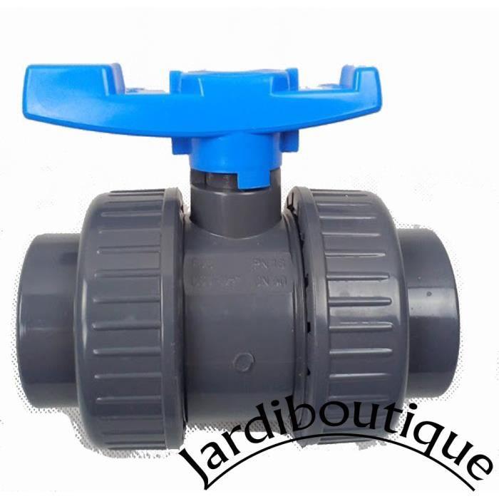 jardiboutique Collier de Fixation pour Tuyau PVC diam/ètre 50 Piscine