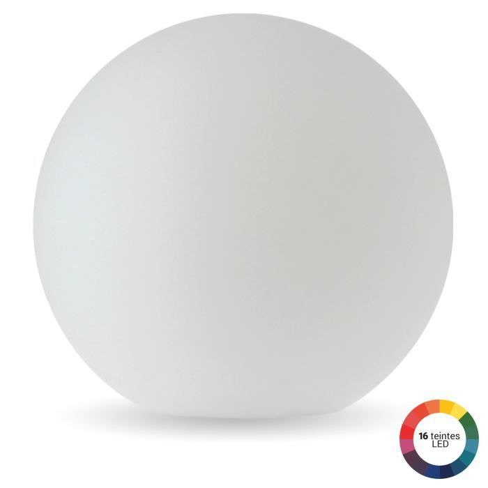 Boule lumineuse de jardin