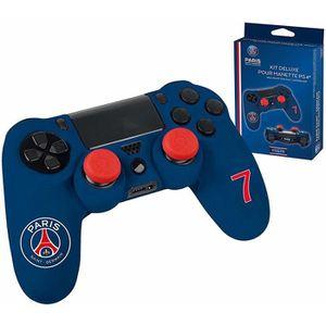 STICKER - SKIN CONSOLE Kit pour manette PS4 Subsonic bleu PSG n°7