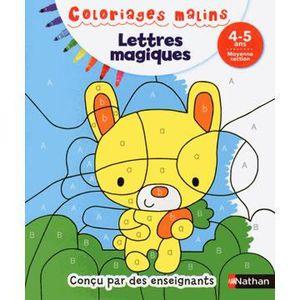 DOCUMENTAIRE ENFANT NATHAN Coloriages Malins - Lettres Magiques Moyenn