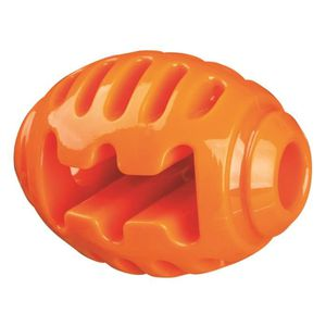 TRIXIE Soft & Strong Ballon de rugby - TPR - 10 cm - Orange - Pour chien
