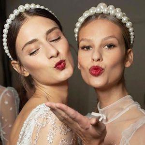 BANDEAU - SERRE-TÊTE Bandeau Cheveux Femme Imitation Big Pearls Bande d