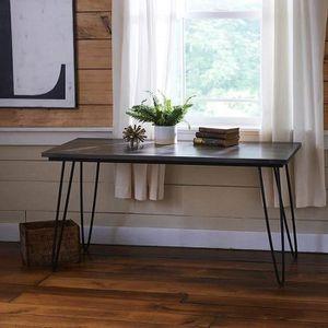 PIED DE TABLE Hahaemall Modern Look Table à café en métal indust