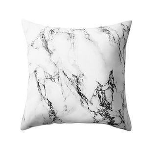 OREILLER Texture marbre géométrique Throw Coussin Taie d'or