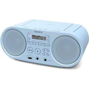 RADIO CD CASSETTE Poste de radio bleu portable bleu clair - MP3, WMA