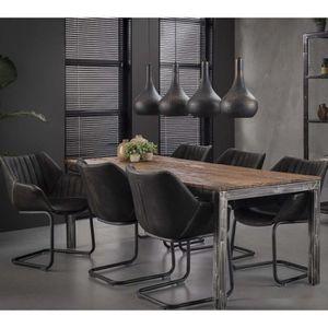 TABLE À MANGER SEULE Table pour salle à manger en bois recyclé et trépi