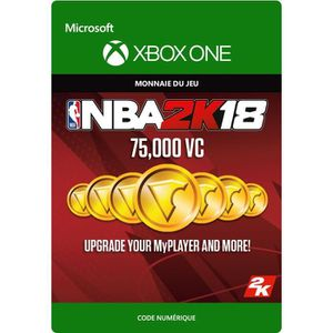 EXTENSION - CODE DLC NBA 2K18: 75 000 VC pour Xbox One