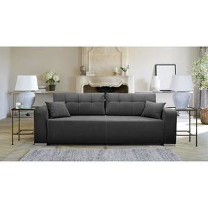 CANAPÉ - SOFA - DIVAN FurnitureR Canapé Lit 3 Places Droit Convertible a