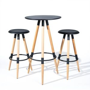 table de bar avec repose pied achat vente table de bar avec repose pied pas cher cdiscount. Black Bedroom Furniture Sets. Home Design Ideas