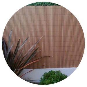 CLÔTURE - GRILLAGE Canisse PVC Teck H 1,80m X 3m