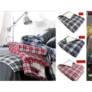 plaid carreaux achat vente plaid carreaux pas cher. Black Bedroom Furniture Sets. Home Design Ideas