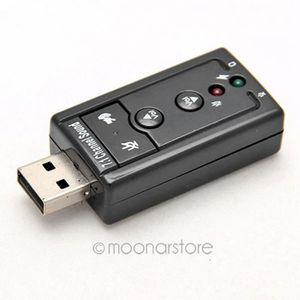 CARTE SON EXTERNE MOONAR® USB Audio Carte Son, 7.1 canaux, externe