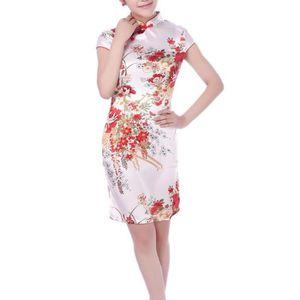 ROBE DE CÉRÉMONIE Femme Robe Courte Chinoise Robe de Soirée Robe de