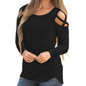 T-SHIRT Zareste® T-shirt solide à manches longues à bretel