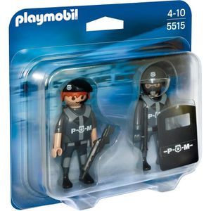 univers miniature playmobil 5515 duo policiers forces spciales
