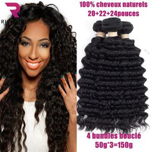 PERRUQUE - POSTICHE 3 tissage bresilien boucle 7A cheveux naturel huma