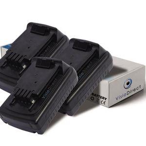 BATTERIE MACHINE OUTIL Lot de 3 batteries pour Black et Decker LCS120 tro