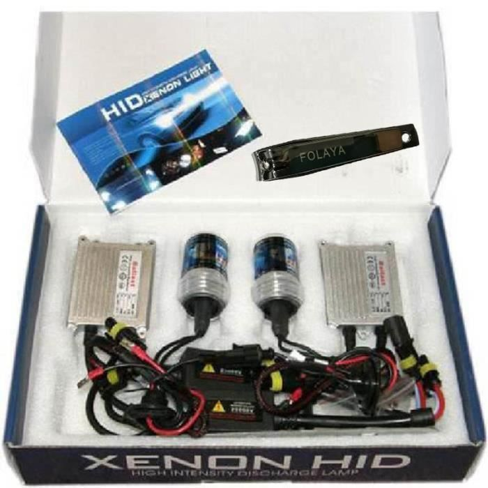 KIT PHARES FEUX XENON HID TUNING H7 6000 SLIM 35W