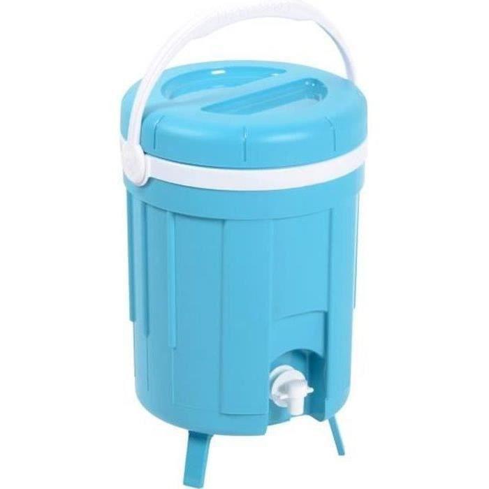 EDA PLASTIQUE Fontaine isothèrme Iceberg - Coque isolante thermoformée - Bleu turquoise - 8 L
