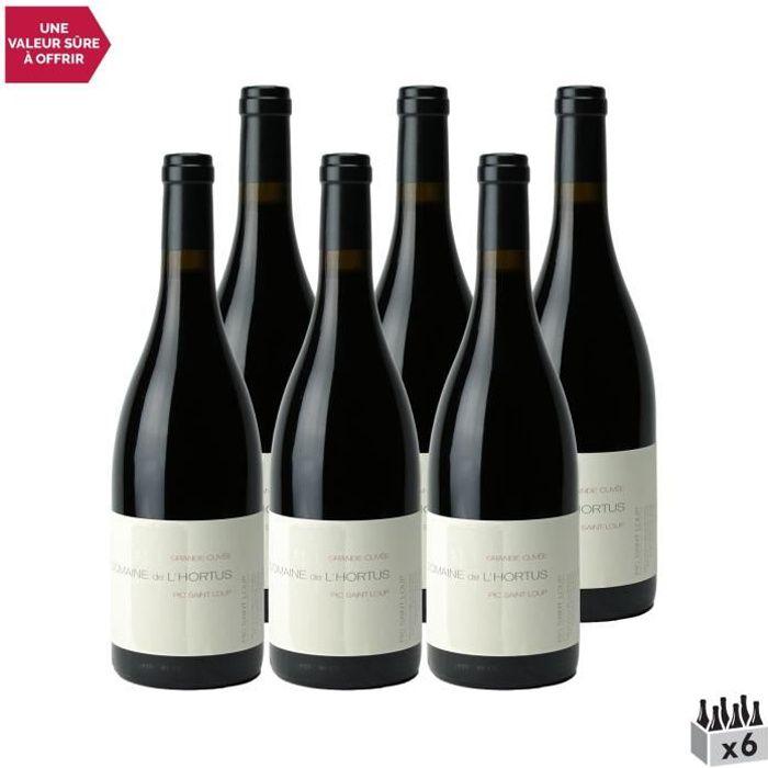 Domaine de l'Hortus Pic Saint-Loup Grande Cuvée Rouge 2019 - Lot de 6x75cl - Vin AOC Rouge du Languedoc - Roussillon