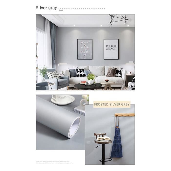 Papier peint auto adhésif en vinyle, solide et mat, imperméable pour bricolage, Films de décoration pour la maison, affi CD3465