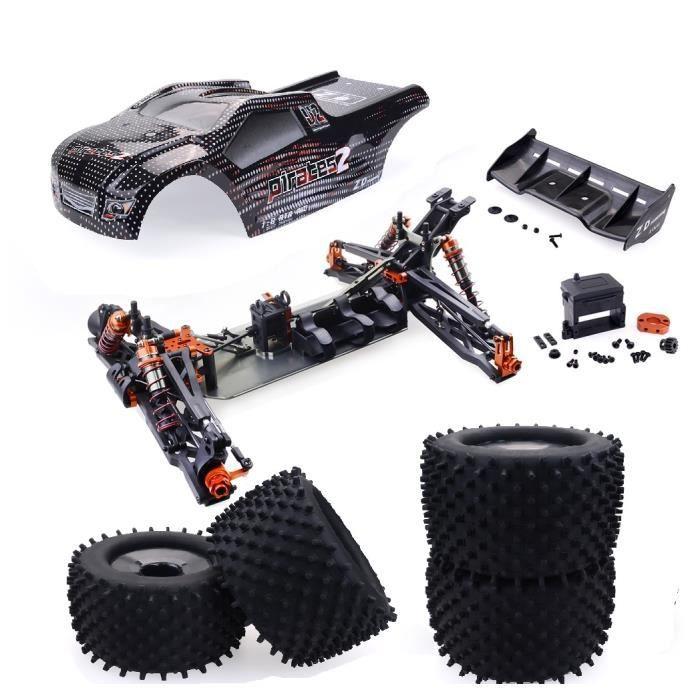 ZD Racing 9021-V3 1-8 2.4G 4WD 80 km - h voiture sans balai Rc pleine échelle électrique Truggy RTR jouets Black frame (excluding