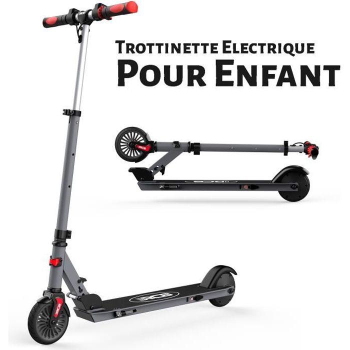 RCB Trottinette Électrique Pliable Scooter Réglable Léger Moteur 150W 5.5 Pouces Pour Enfant Gris