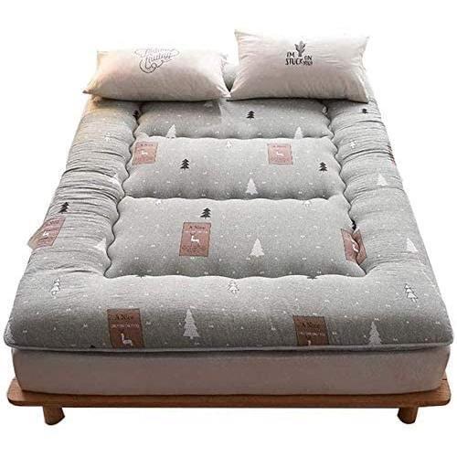 MATELAS qmj Matelas Futon Tapis De Sol Japonais Tatami Coussin De Couchage Pliable Matelas Simple Double Confort,A-180 * 200cm355